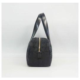 Chanel-CHANEL New Travel Line Mini boston Womens Boston bag black-Black