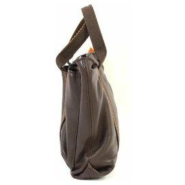 Hermès-HERMES Caravan Horizontal PM sac à main mixte marron-Marron