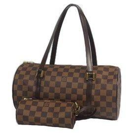 Louis Vuitton-LOUIS VUITTON Papillon GM Papillon 30 Sac Boston femme N51303 Damier Ebene-Damier ebène