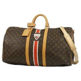 Louis Vuitton-Louis Vuitton Keepall Bandouliere 55 sac Boston unisexe M41430-Autre