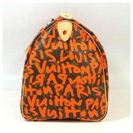 Louis Vuitton-Louis Vuitton Speedy 30 Sac Boston femme M93705 d'orange-Orange