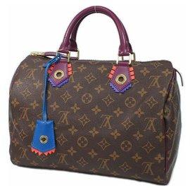 Louis Vuitton-Louis Vuitton Speedy 30 Sac Boston femme M41666 Magenta-Autre