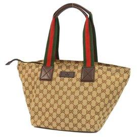 Gucci-Gucci GG Canvas Shelly Line Sac cabas Femme 131230 Couleur Beige-Beige
