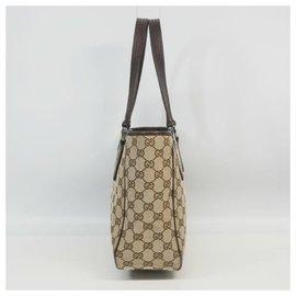 Gucci-Sac cabas Gucci Femme 113019 beige x marron-Marron,Beige