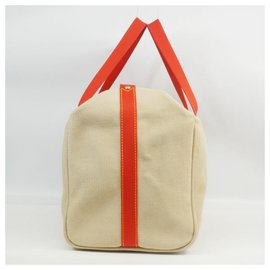 Louis Vuitton-Louis Vuitton Antigua sac Weekend Femmes Boston sac M40029 beige x rouge-Rouge,Beige