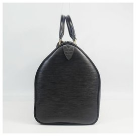Louis Vuitton-Louis Vuitton Speedy 35 Sac Boston femme M42992 Noir-Noir