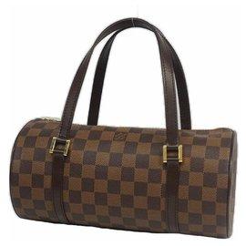 Louis Vuitton-Louis Vuitton Papillon 26 Papillon PM Sac Boston Femme N51304 Damier Ebene-Damier ebène