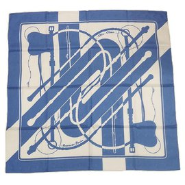 Hermès-Hermès Carre90 Clic Clac Clic Clac Womens scarf blue-Blue