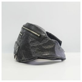 Gucci-Gucci body bag GG Ssima Womens Waist bag 246409 black-Black