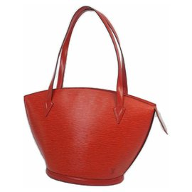 Louis Vuitton-Louis Vuitton St. Jaques shopping Womens tote bag M52267 castilian red-Other