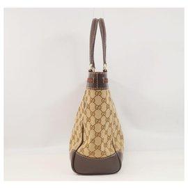 Gucci-Sac cabas Gucci Shelly Femme 257061 beige x marron-Marron,Beige