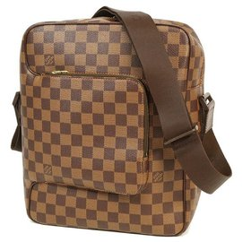 Louis Vuitton-LOUIS VUITTON Olaf PM Womens shoulder bag N41441 damier ebene-Damier ebene