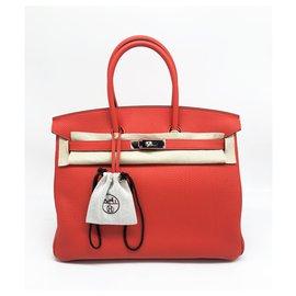 Hermès-Birkin 35 cm red nasturtium-Rouge