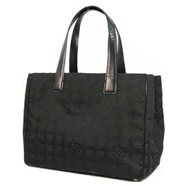 Chanel-CHANEL New Travel Line tote MM Womens tote bag A15991 black-Black