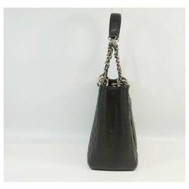 Chanel-CHANEL matelasse GST chain tote bag Womens tote bag A50995 black x silver hardware-Black,Silver hardware