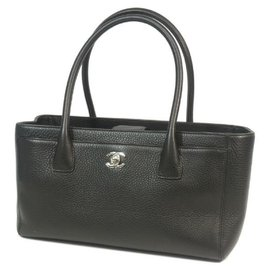Chanel-CHANEL Executive tote Womens tote bag A29292 black x silver hardware-Black,Silver hardware