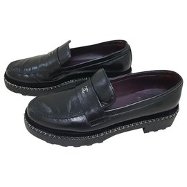 Chanel-Chanel loafers-Black