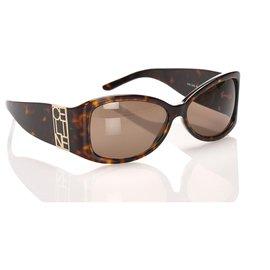 Céline-Celine Brown Square Tinted Sunglasses-Brown