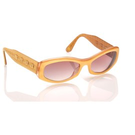 Chanel-Chanel Brown Round Tinted Sunglasses-Brown
