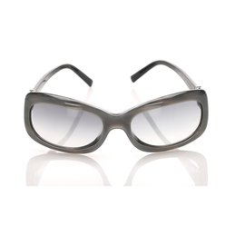 Chanel-Chanel Gray Rectangle Tinted Sunglasses-Grey