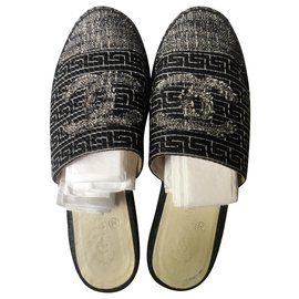 Chanel-Espadrilles-Black,Grey