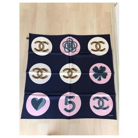 Chanel-Chanel scarf-Navy blue