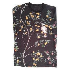 Dolce & Gabbana-Lemons and macaw, oranges and bird of paradise...-Black