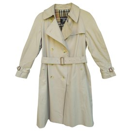 Burberry-womens Burberry vintage t trench coat 40-Beige