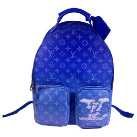 Louis Vuitton-Multipocket backpack-Blue