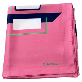 Chanel-Pink Chanel scarf-Pink