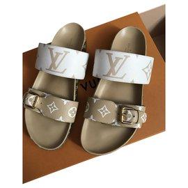 Louis Vuitton-Mules Bom Dia Louis Vuitton-Beige