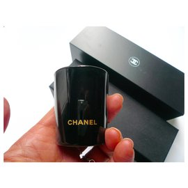 Chanel-MISC CHANEL - LOT OF 3 PERFUMED CANDLES WITH CHEST-Black