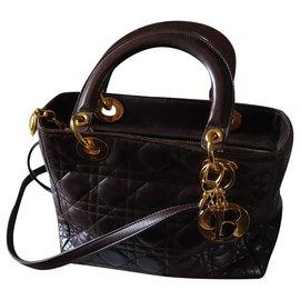Christian Dior-Handbags-Chocolate