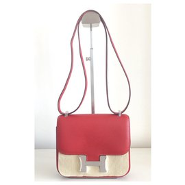 Hermès-Hermes Constance 18 in Red Epsom leather-Red
