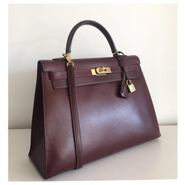 Hermès-hermes kelly 35 in Sienna Red Epsom leather-Red