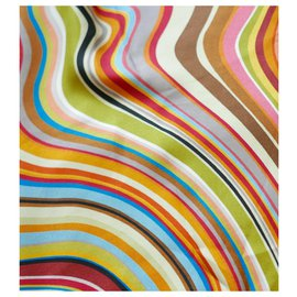 Paul Smith-Swirl Print Silk Scarf-Multiple colors