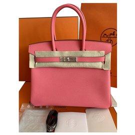 Hermès-Birkin 30 Epsom Leather PHW-Pink