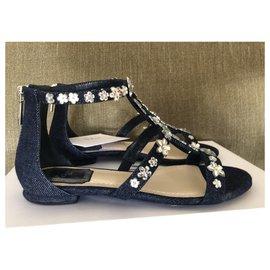 Christian Dior-Sandals-Blue