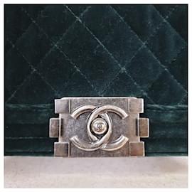 Chanel-Handbags-Dark green