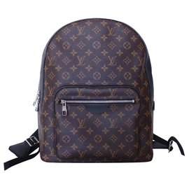 Louis Vuitton-LOUIS VUITTON JOSH MONOGRAM MACASSAR backpack-Brown