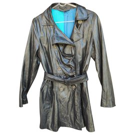 Paul Smith-trench en cuir Paul Smith taille XL-Noir