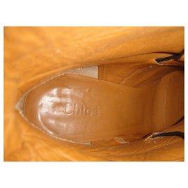 Chloé-Chloé p buckle boots 38,5-Black