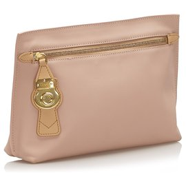 Burberry-Burberry Pink Canvas Clutch Bag-Pink,Other