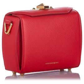 Alexander Mcqueen-Alexander McQueen Red Box 16 Leather Crossbody Bag-Red