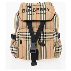 Burberry-Burberry backpack check new-Beige