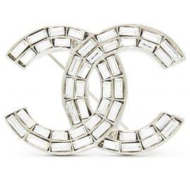 Chanel-CC SILVER CRYSTAL-Silvery