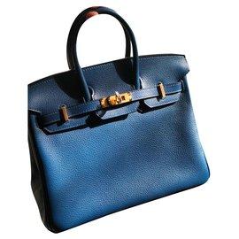 Hermès-Birkin 25-Navy blue