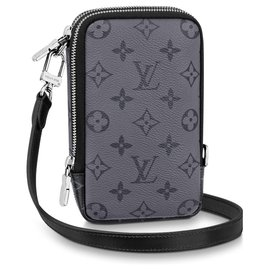 Louis Vuitton-LV lined phone bag-Grey