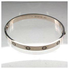 Cartier-CARTIER LOVE BRACELET WG 19taille seconde main-Bijouterie argentée