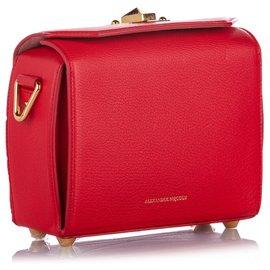 Alexander Mcqueen-Alexander McQueen Red Box 19 Leather Crossbody Bag-Red